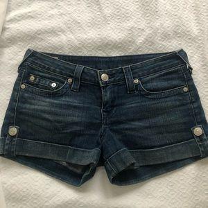 True Religion denim shorts!